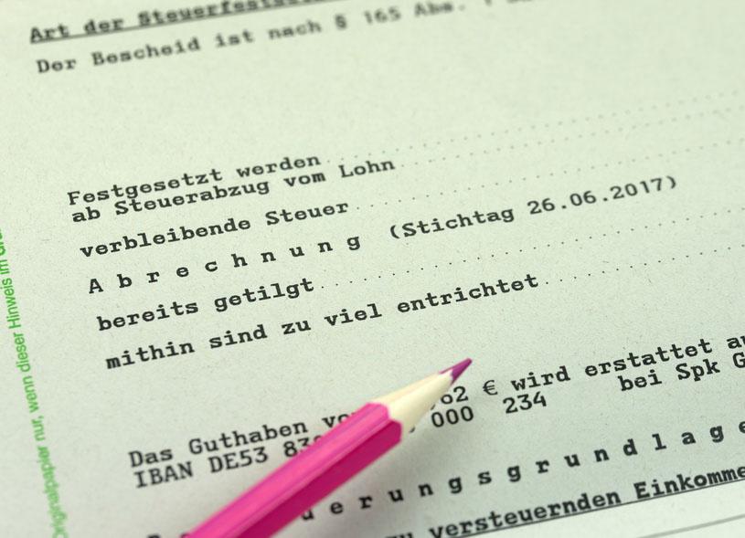 Lohnsteuerbescheid, Steuererstattung, Finanzamt